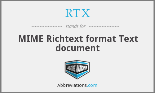 RTX - MIME Richtext format Text document