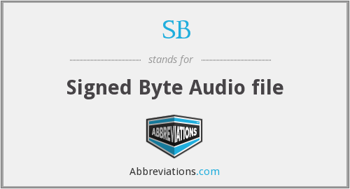 SB - Signed Byte Audio file