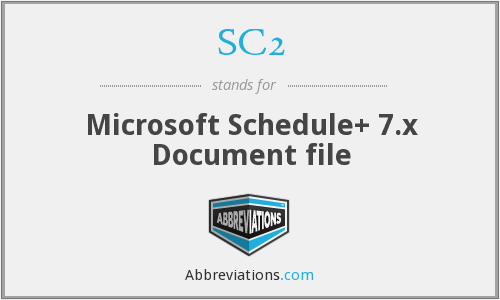SC2 - Microsoft Schedule+ 7.x Document file