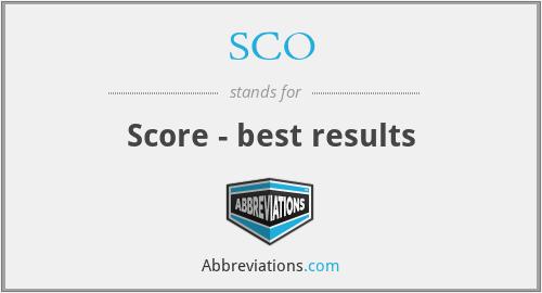 SCO - Score - best results