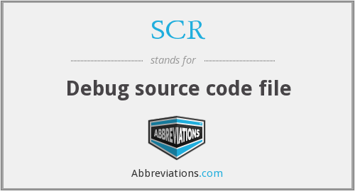 SCR - Debug source code file