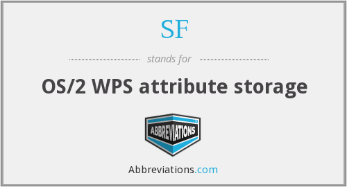 SF - OS/2 WPS attribute storage