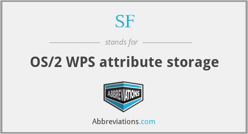 SF - OS/2 WPS attribute storage