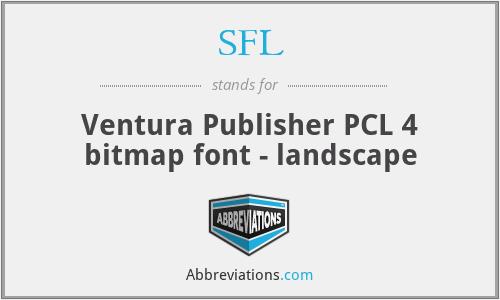 SFL - Ventura Publisher PCL 4 bitmap font - landscape