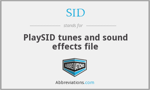 SID - PlaySID tunes and sound effects file