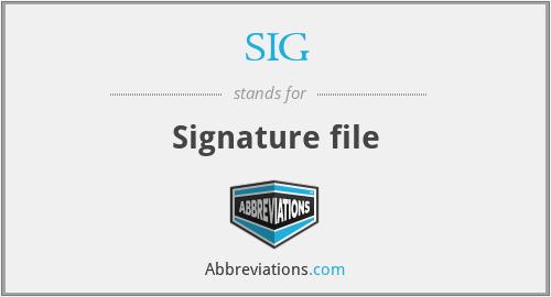 SIG - Signature file
