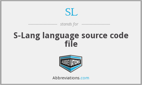 SL - S-Lang language source code file