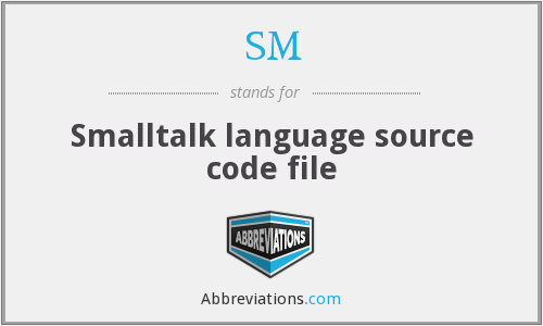 SM - Smalltalk language source code file