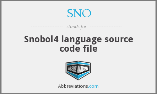 SNO - Snobol4 language source code file