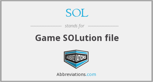 SOL - Game SOLution file