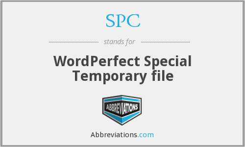 SPC - WordPerfect Special Temporary file