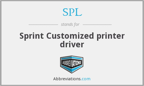 SPL - Sprint Customized printer driver