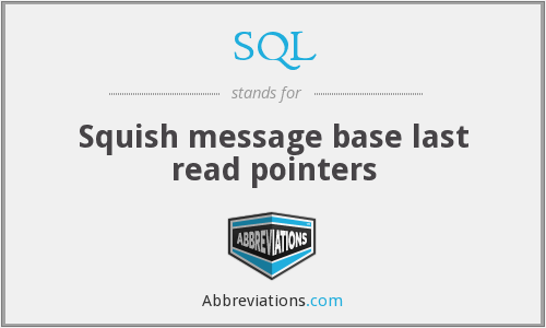 SQL - Squish message base last read pointers