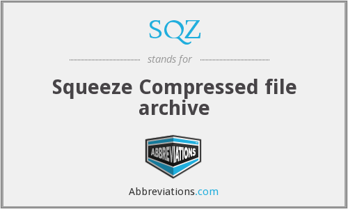 SQZ - Squeeze Compressed file archive