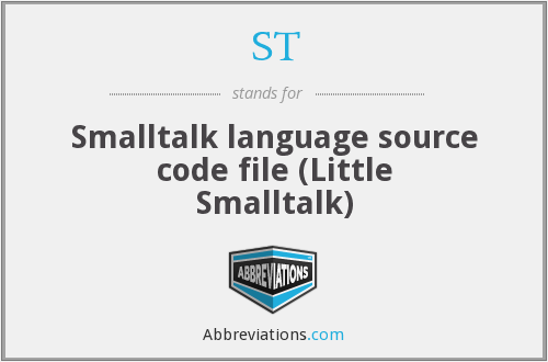 ST - Smalltalk language source code file (Little Smalltalk)