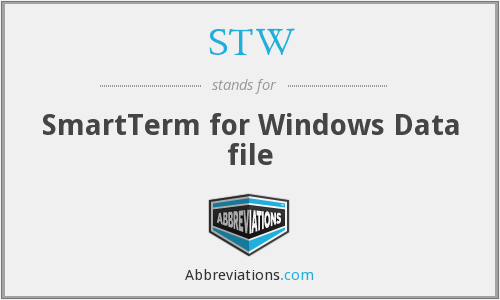 STW - SmartTerm for Windows Data file