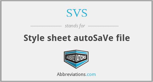SVS - Style sheet autoSaVe file