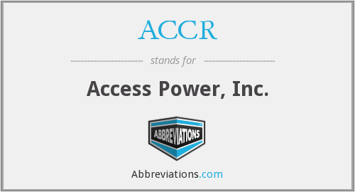 What does ACCR stand for?