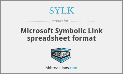 SYLK - Microsoft Symbolic Link spreadsheet format
