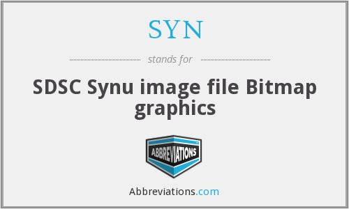SYN - SDSC Synu image file Bitmap graphics