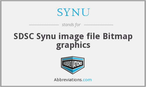 SYNU - SDSC Synu image file Bitmap graphics