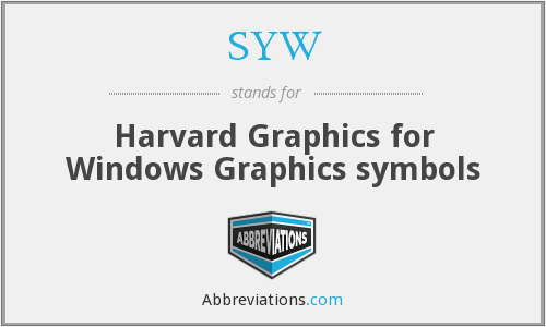 SYW - Harvard Graphics for Windows Graphics symbols