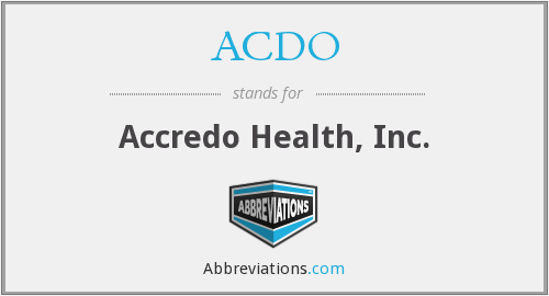 What does ACDO stand for?