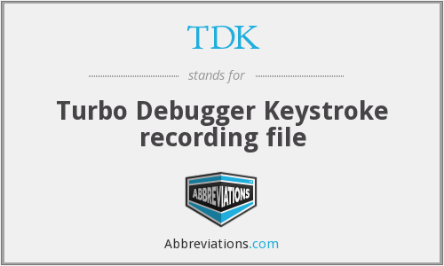 TDK - Turbo Debugger Keystroke recording file