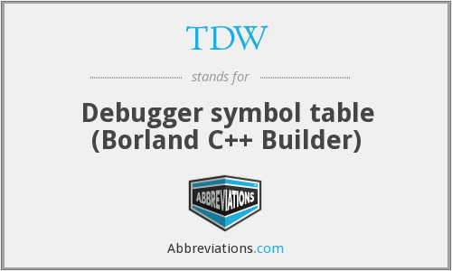 TDW - Debugger symbol table (Borland C++ Builder)