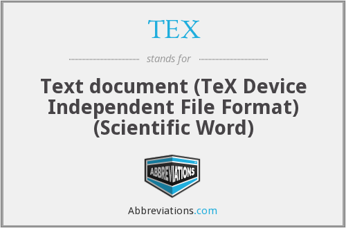 TEX - Text document (TeX Device Independent File Format) (Scientific Word)