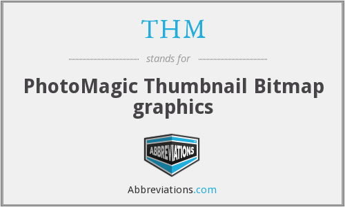 THM - PhotoMagic Thumbnail Bitmap graphics