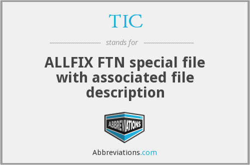 TIC - ALLFIX FTN special file with associated file description