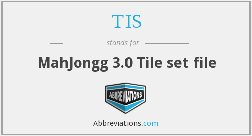 TIS - MahJongg 3.0 Tile set file