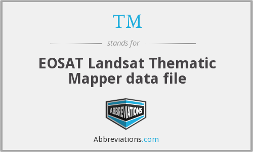 TM - EOSAT Landsat Thematic Mapper data file