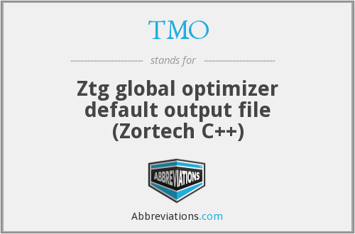 TMO - Ztg global optimizer default output file (Zortech C++)