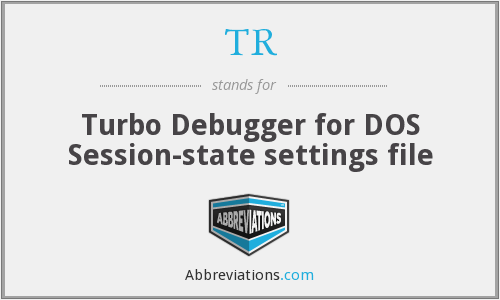 TR - Turbo Debugger for DOS Session-state settings file