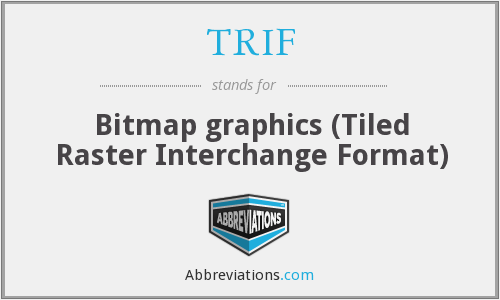 What does TRIF stand for?