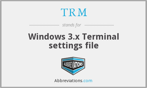 TRM - Windows 3.x Terminal settings file