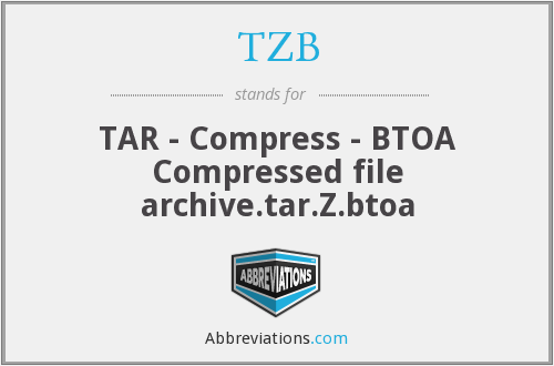TZB - TAR - Compress - BTOA Compressed file archive.tar.Z.btoa