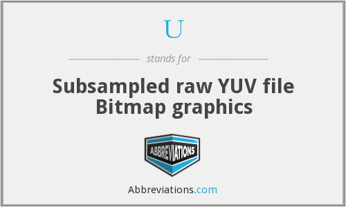 U - Subsampled raw YUV file Bitmap graphics