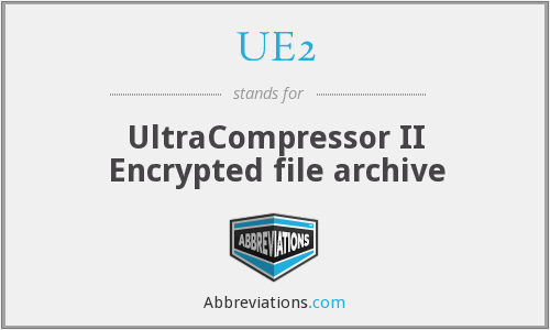 UE2 - UltraCompressor II Encrypted file archive