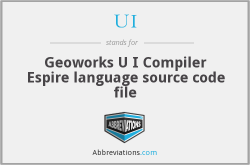 UI - Geoworks U I Compiler Espire language source code file