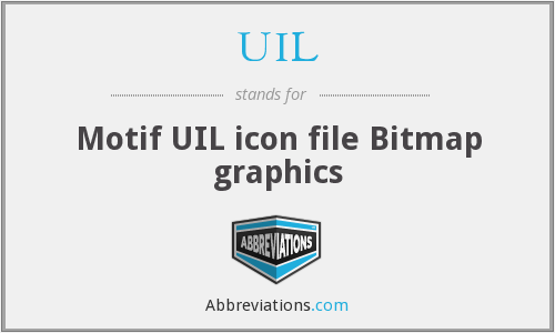 UIL - Motif UIL icon file Bitmap graphics