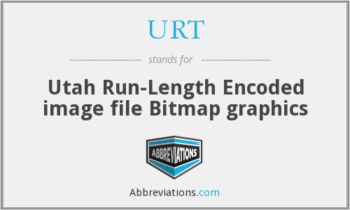 URT - Utah Run-Length Encoded image file Bitmap graphics