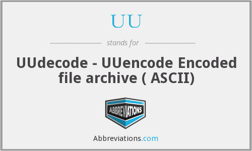 UU - UUdecode - UUencode Encoded file archive ( ASCII)