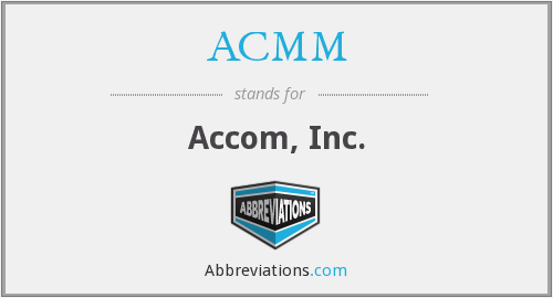 What does ACMM stand for?
