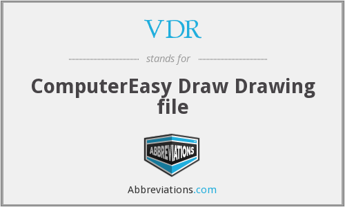 VDR - ComputerEasy Draw Drawing file