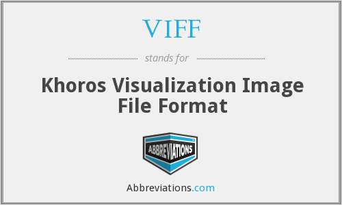 VIFF - Khoros Visualization Image File Format