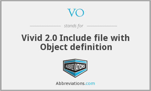 VO - Vivid 2.0 Include file with Object definition