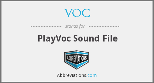 VOC - PlayVoc Sound File